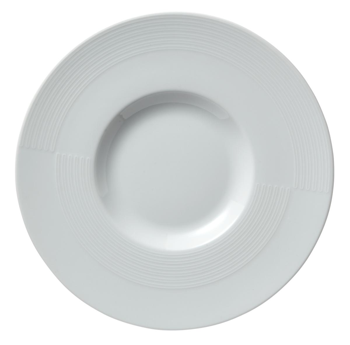 Assiette plate ronde blanc porcelaine Ø 31 cm Gourmet