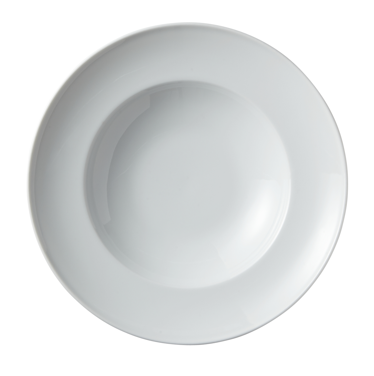 Assiette à pâtes rond blanc