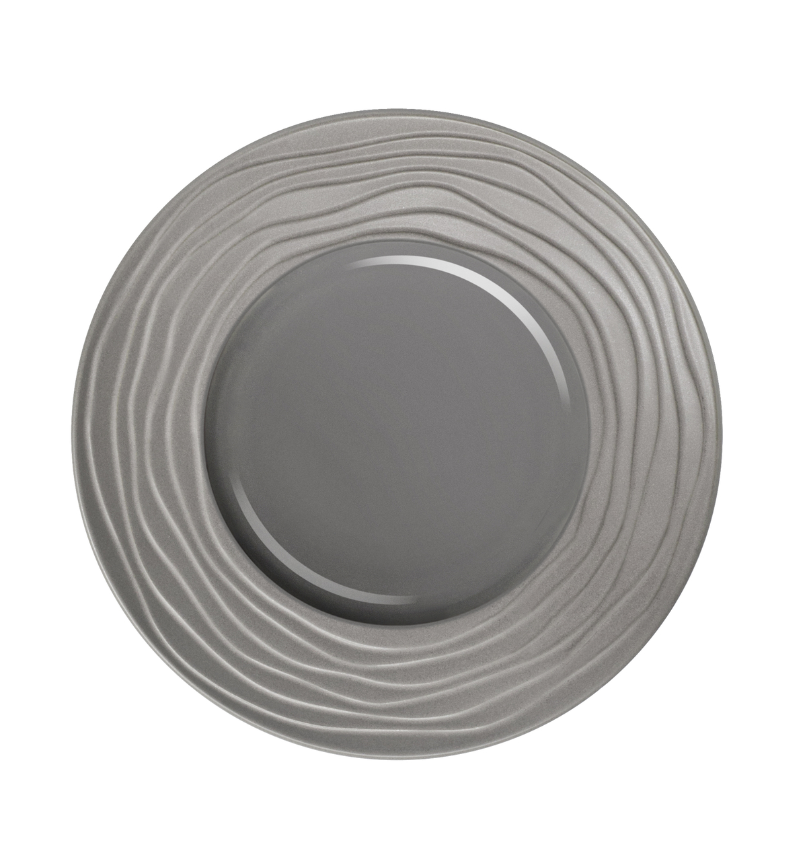 Assiette plate ronde gris grès Ø 31,50 cm Escale Medard De Noblat