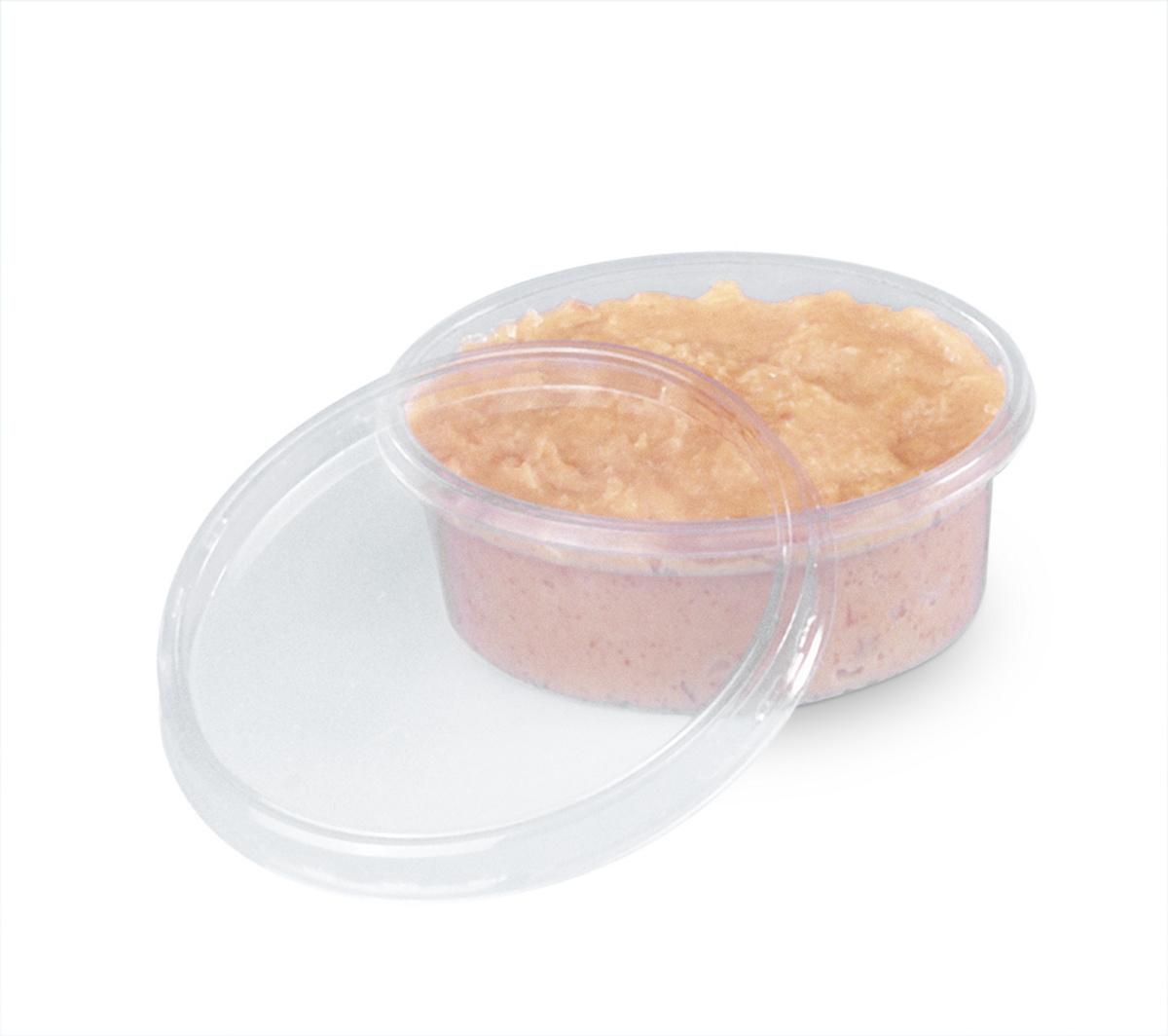 Couvercle pot à sauce rond transparent Ø 7,50 cm Alphaform (100 pièces)