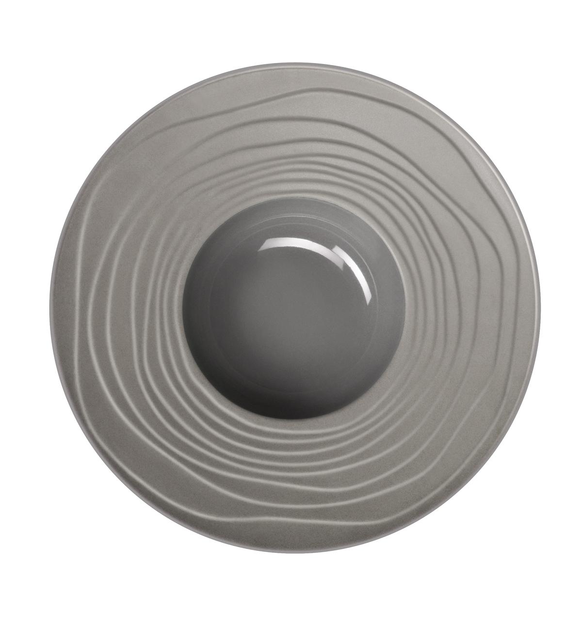 Assiette à pâtes ronde gris grès Ø 28 cm Escale Medard De Noblat