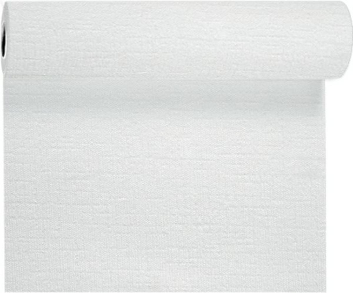 Rouleau tête à tête blanc non tissé 24x0,40 m Evolin Duni