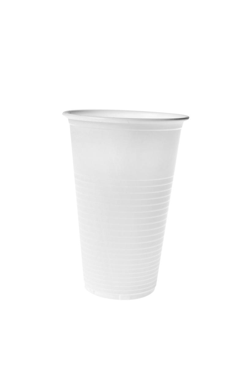 Gobelet blanc plastique 23 cl (100 pièces)