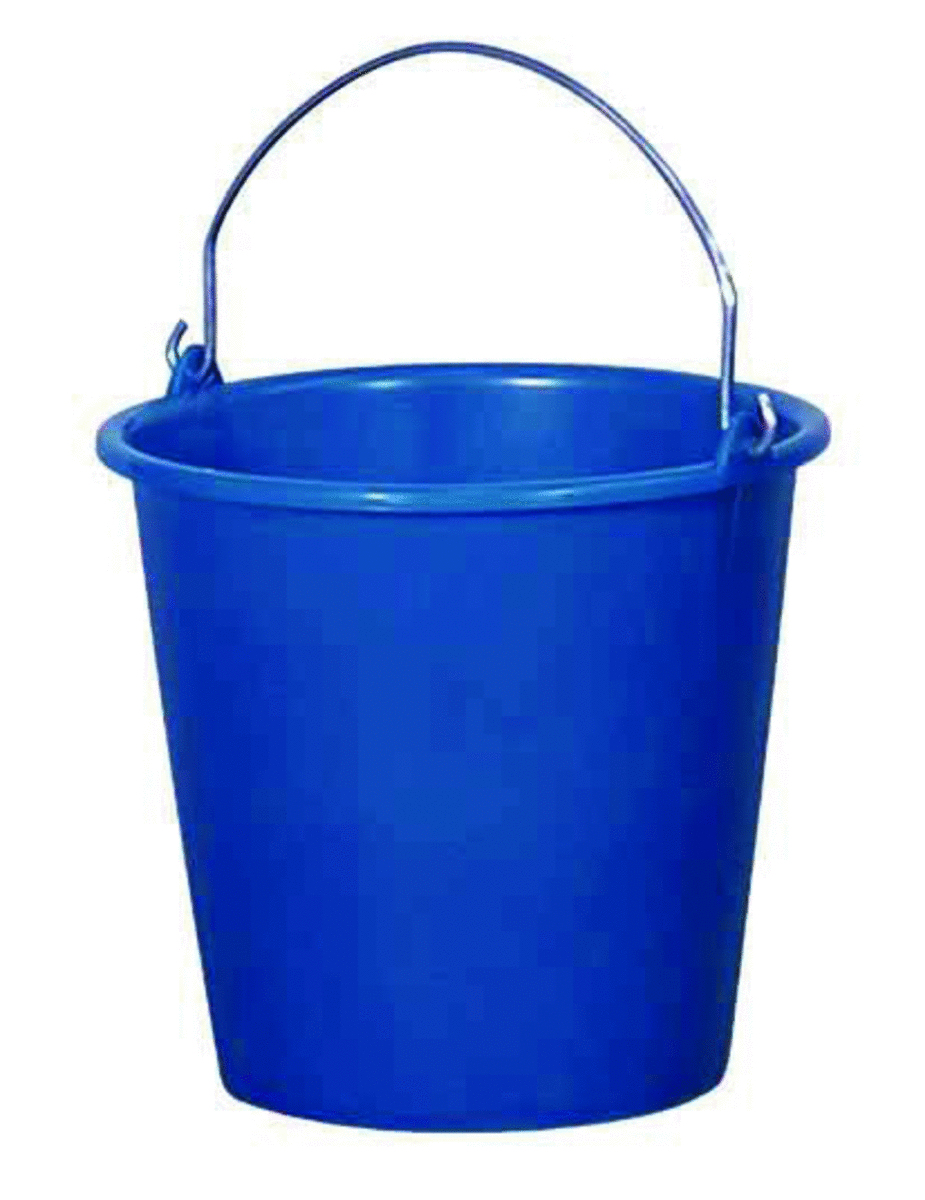 Seau avec anse rond bleu 10 l