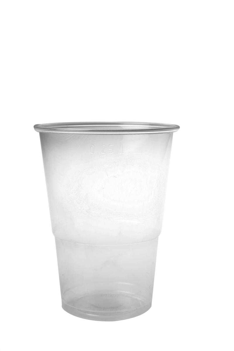 Gobelet transparent plastique 30 cl (100 pièces)