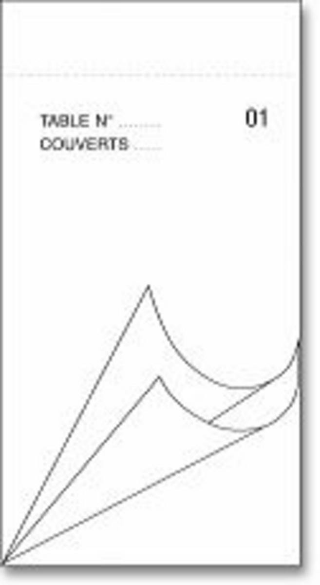 Bloc commande triplicopiant blanc papier 9,50x17 cm Cogir