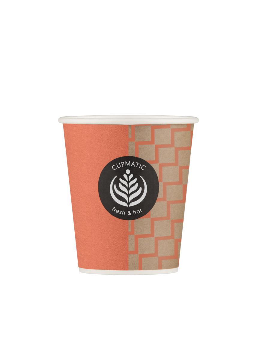 Gobelet orange carton 18 cl Hot Cup Huhtamaki (100 pièces)