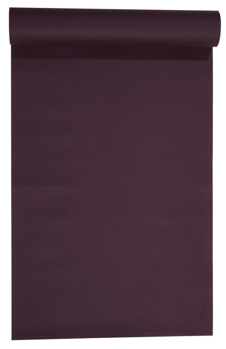 Rouleau tête à tête aubergine non tissé 24x0,40 m Lisah Pro.mundi