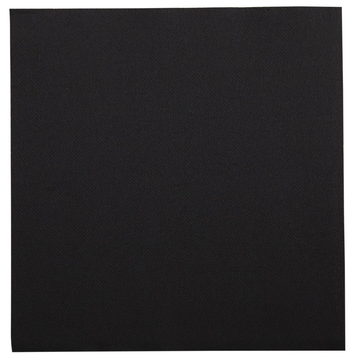 Serviette noire ouate de cellulose 38x38 cm Lisah Pro.mundi (50 pièces)