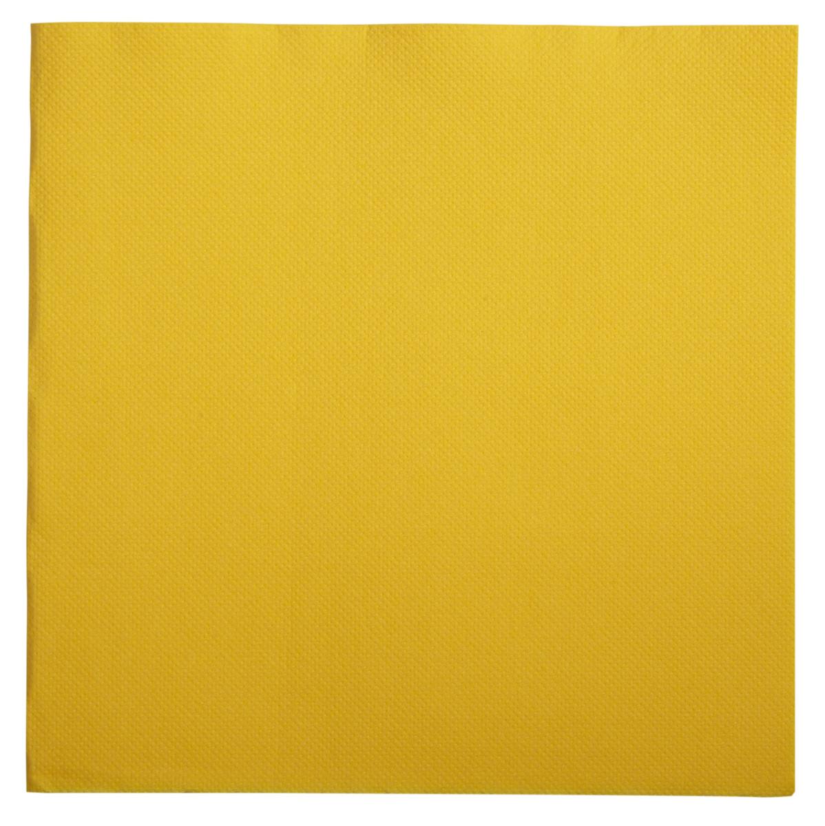 Serviette jaune ouate de cellulose 38x38 cm Lisah Pro.mundi (50 pièces)