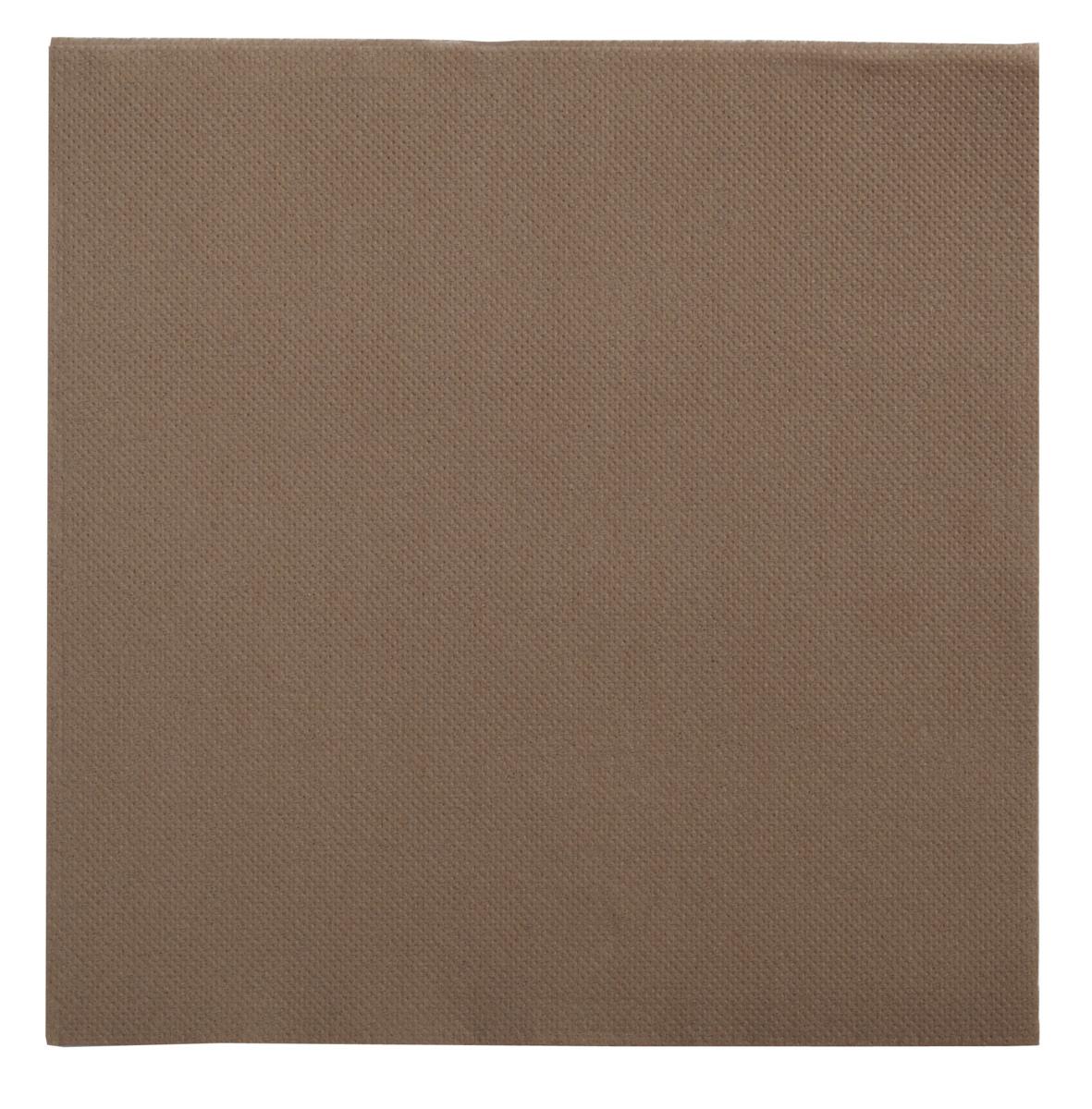 Serviette taupe ouate de cellulose 38x38 cm Lisah Pro.mundi (50 pièces)