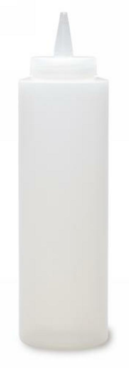 Distributeur de sauces rond transparent plastique 70 cl (4 pièces)