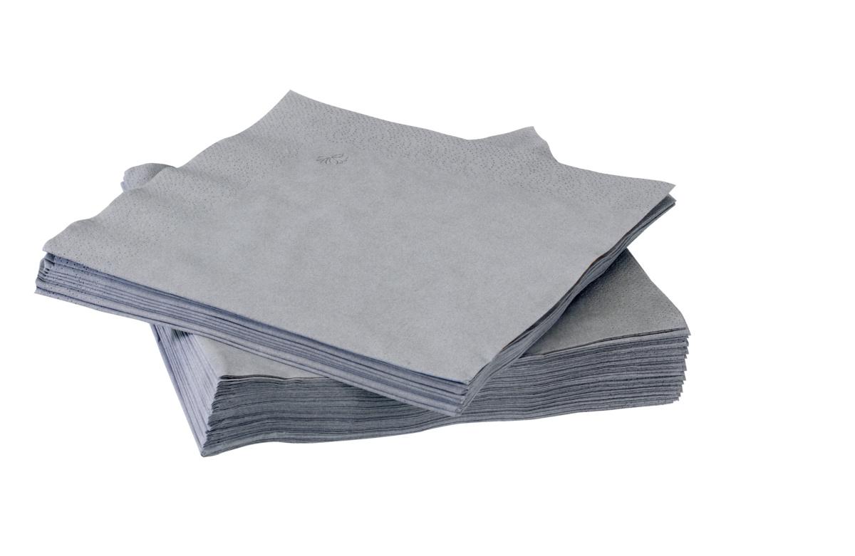 Serviette gris ouate de cellulose 39x39 cm Tork (150 pièces)