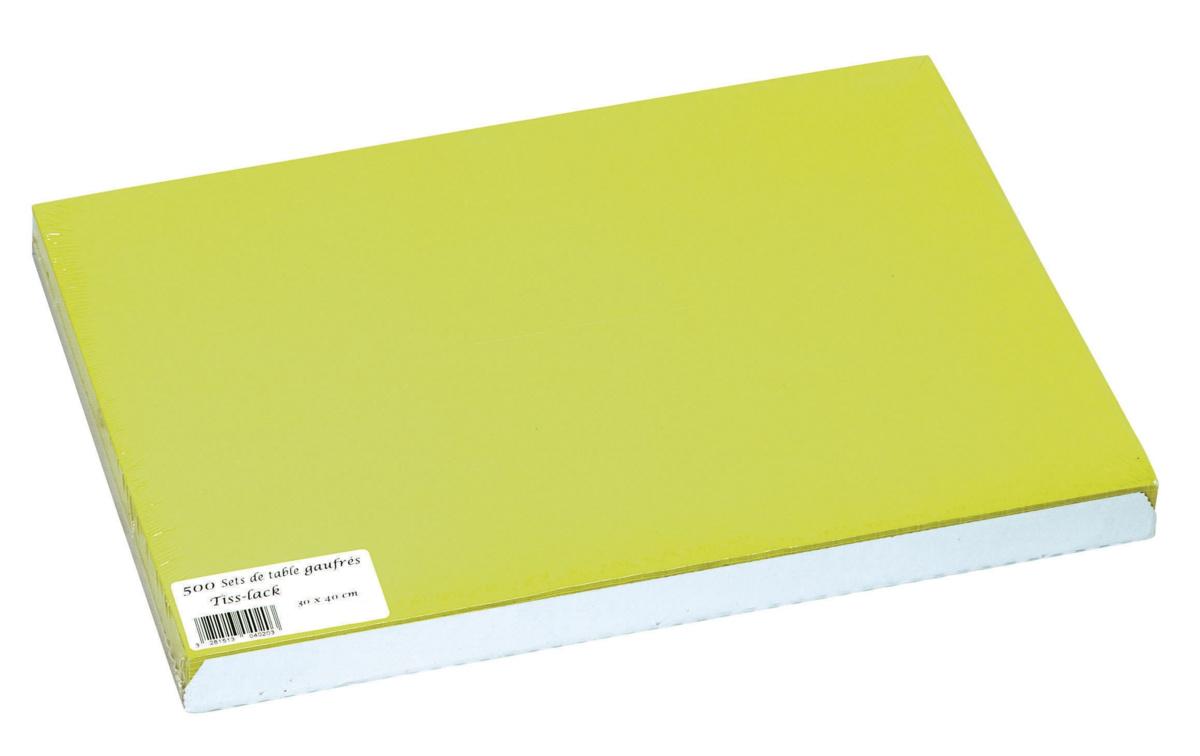 Set de table kiwi papier 40x30 cm Tisslack Cogir (500 pièces)