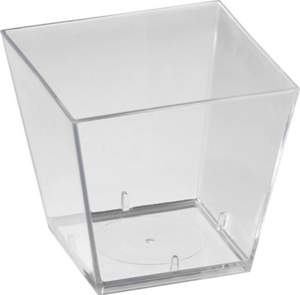 Verrine carrée transparente 4,70x4,70 cm 6 cl Duni (100 pièces)
