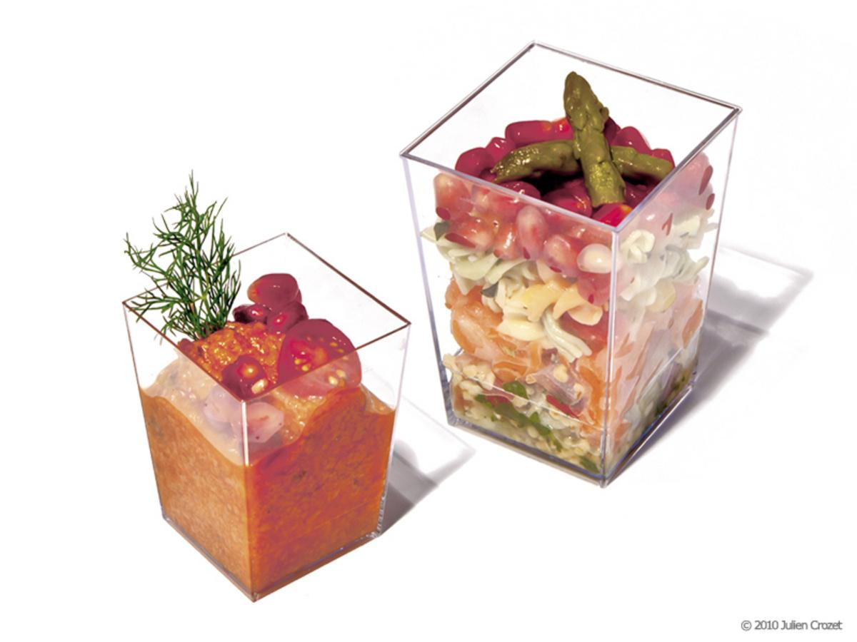 Verrine transparente 5,5x5,5 cm 16 cl (10 pièces)