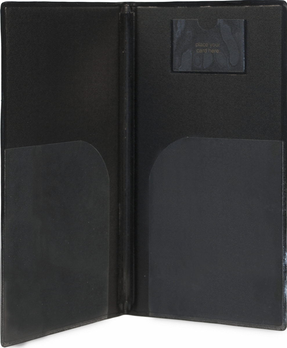 Porte-addition rectangulaire noir 13x23 cm Securit
