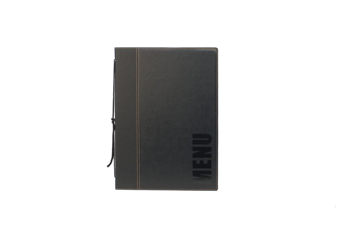 Protège-menu rectangulaire noir 4 vues Securit