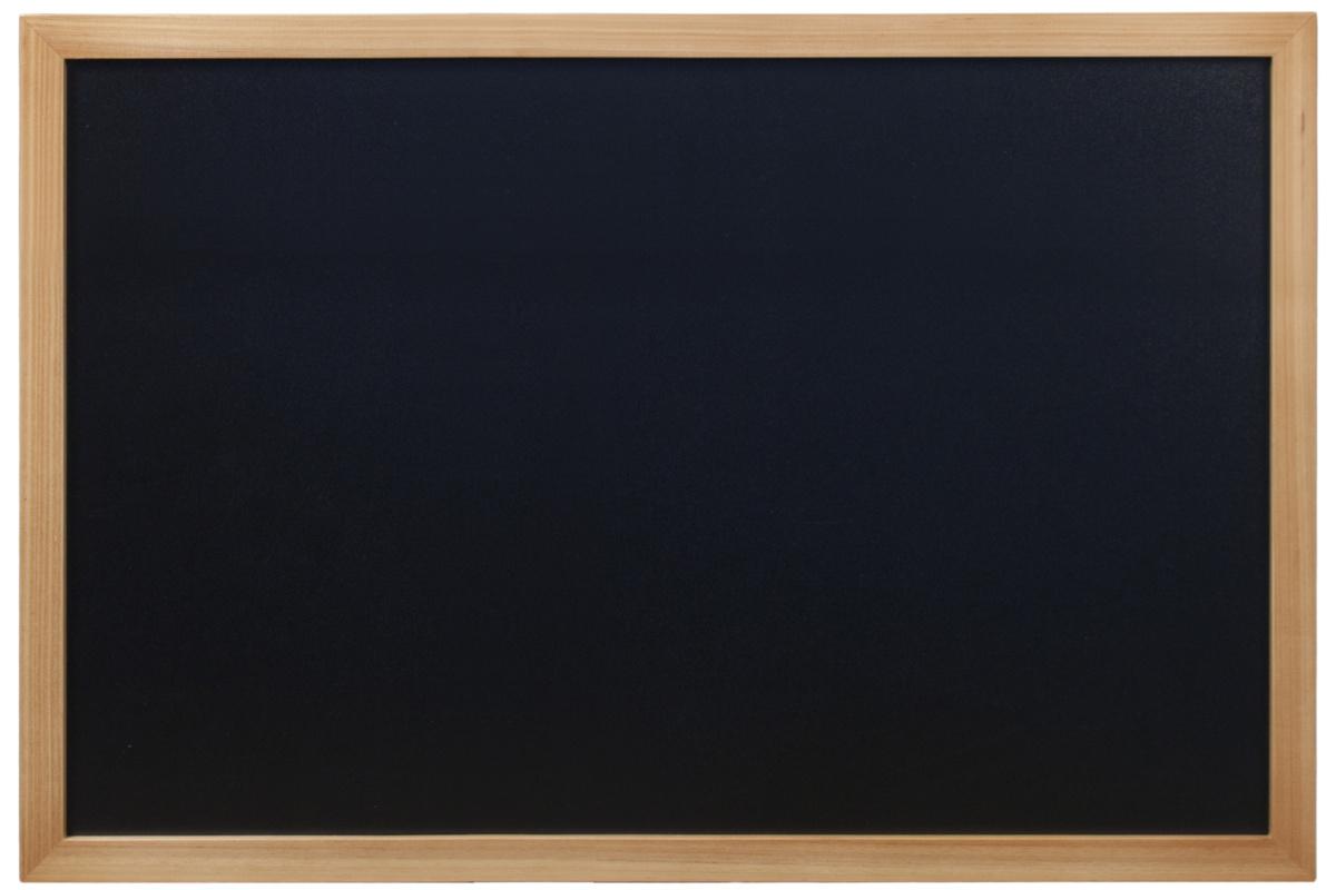 Ardoise rectangulaire noire 60x80 cm Woody Securit