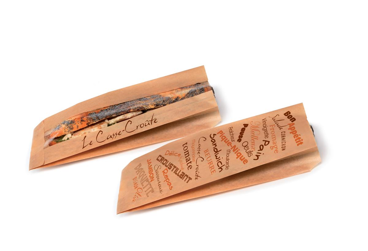 Sac sandwich brun 10x35 cm Pro.mundi (1000 pièces)