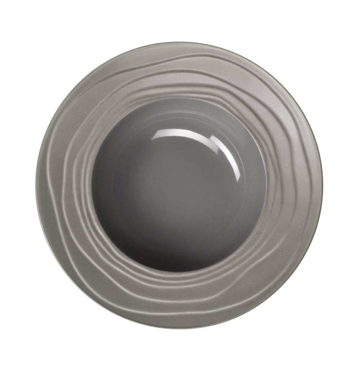 Assiette creuse ronde gris grès Ø 22,20 cm Escale Medard De Noblat
