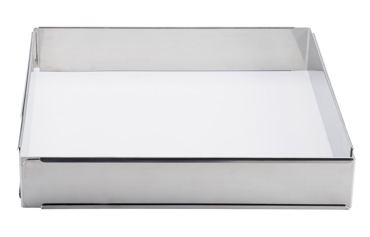 Cadre mousse et entremêt extensible inox 30x30 cm