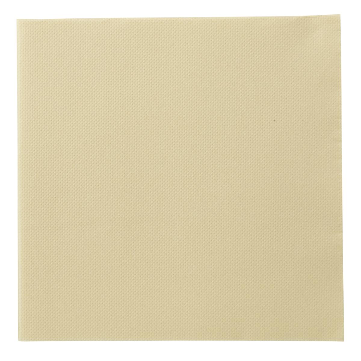 Serviette ivoire ouate de cellulose 38x38 cm Lisah Pro.mundi (50 pièces)