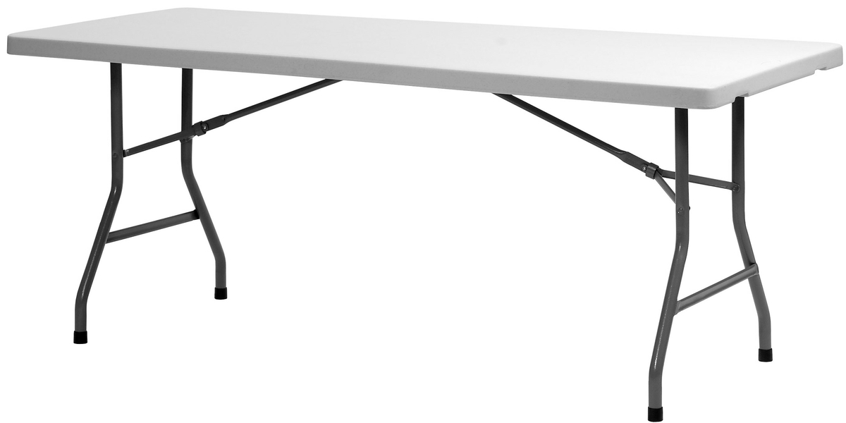 Table pliante blanc 182x75 cm Xl 180