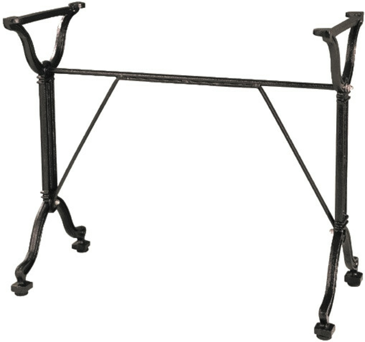 Pied de table noir 82x38 cm Retro