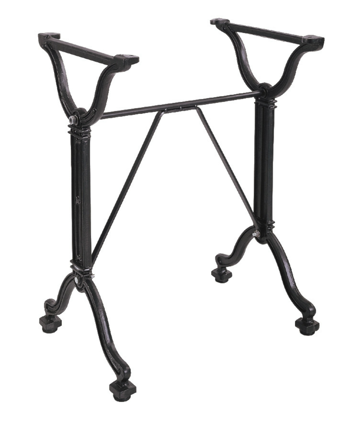 Pied de table noir 54x38 cm Retro