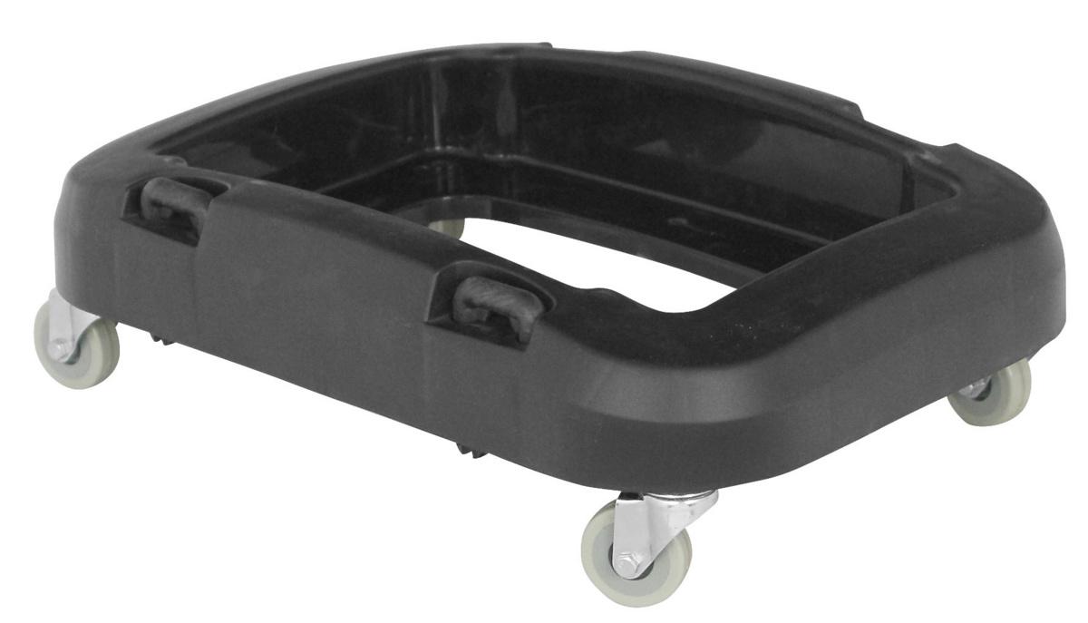 Chariot de tri sélectif noir plastique 33x48 cm Probbax