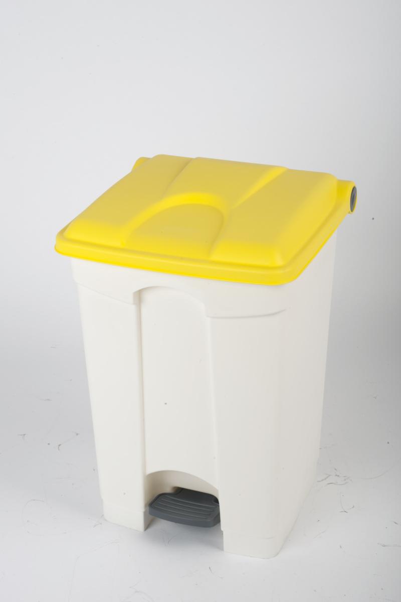 Collecteur à pédale jaune plastique 45 l Probbax
