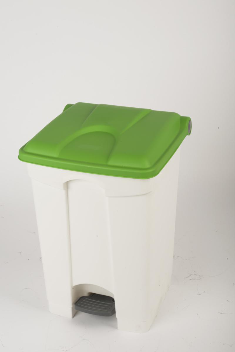 Collecteur à pédale blanc plastique 45 l Probbax