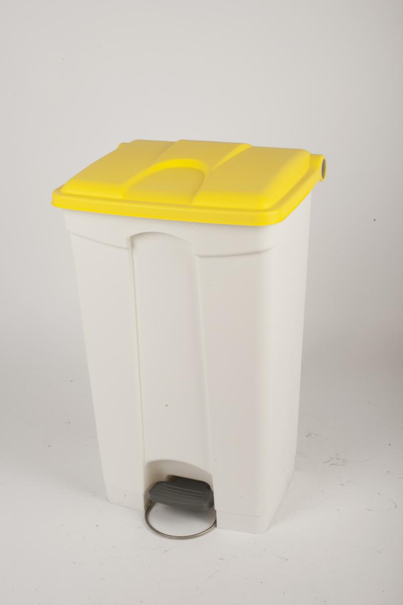 Collecteur à pédale jaune plastique 90 l Probbax
