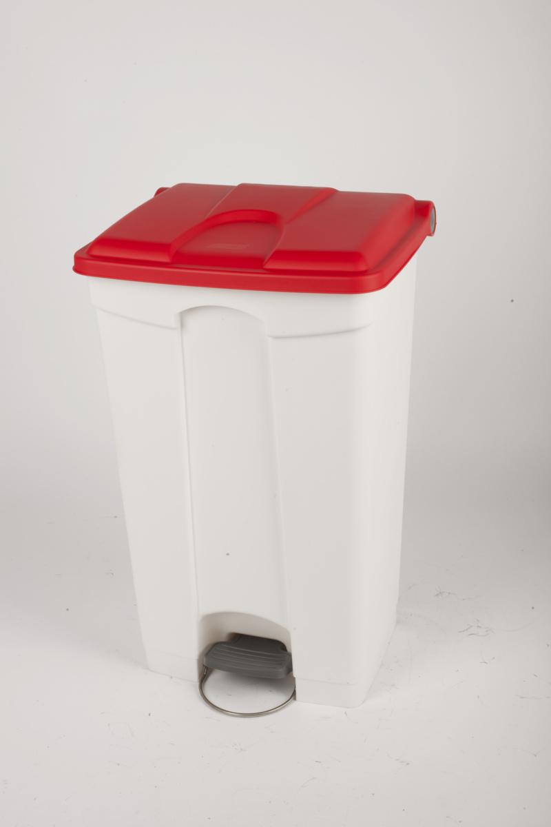 Collecteur à pédale rouge plastique 90 l Probbax