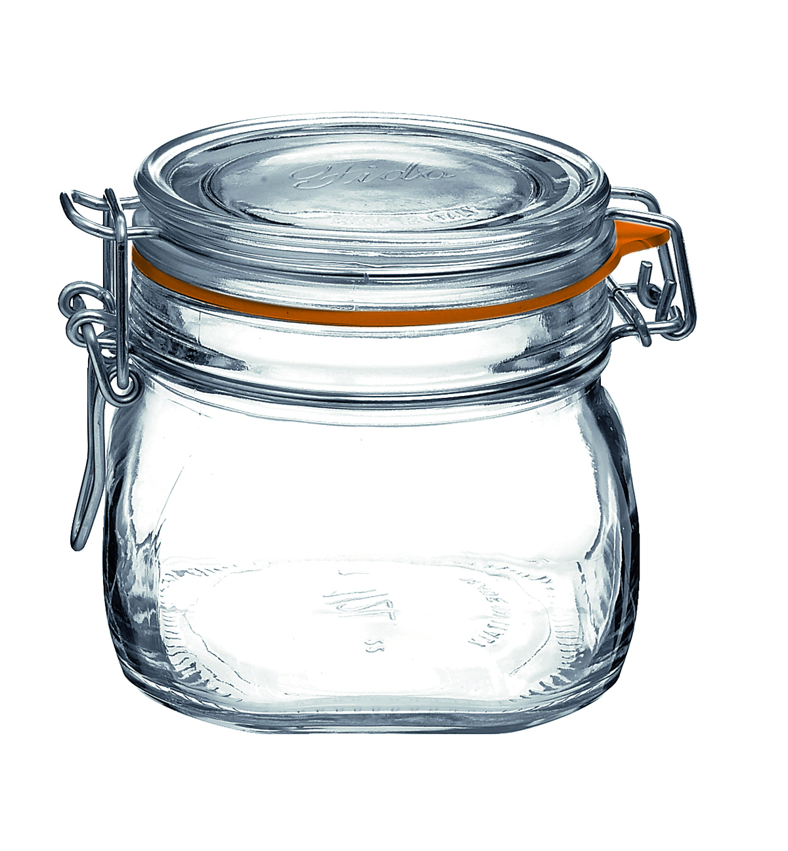 Bocal avec couvercle hermétique rond transparent verre Ø 10,60 cm Fido Bormioli Rocco