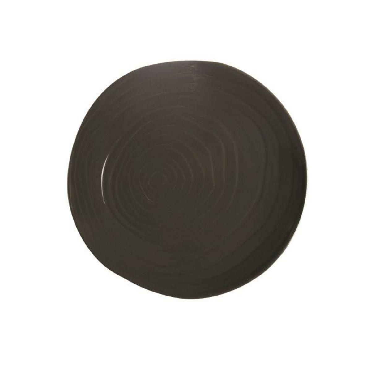 Assiette coupe plate ronde granite porcelaine Ø 21 cm Teck Pillivuyt