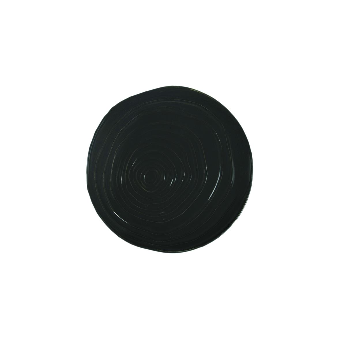 Assiette coupe plate ronde granite porcelaine Ø 16 cm Teck Pillivuyt