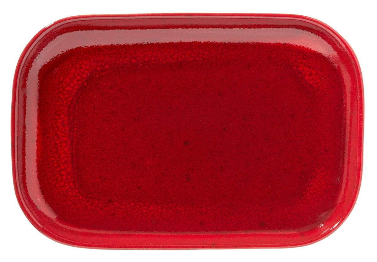Assiette à steak rectangulaire rouge grès 19,50x29 cm Gres Couleur Pro.mundi