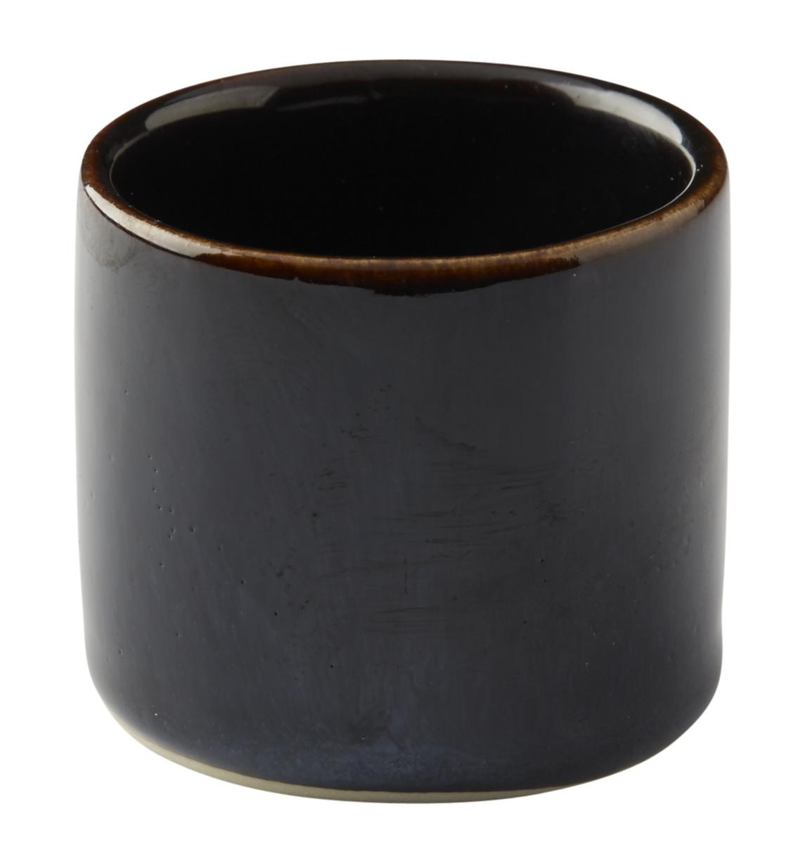 Pot à sauce rond bleu grès 5 cl Ø 5 cm Gres Couleur Pro.mundi