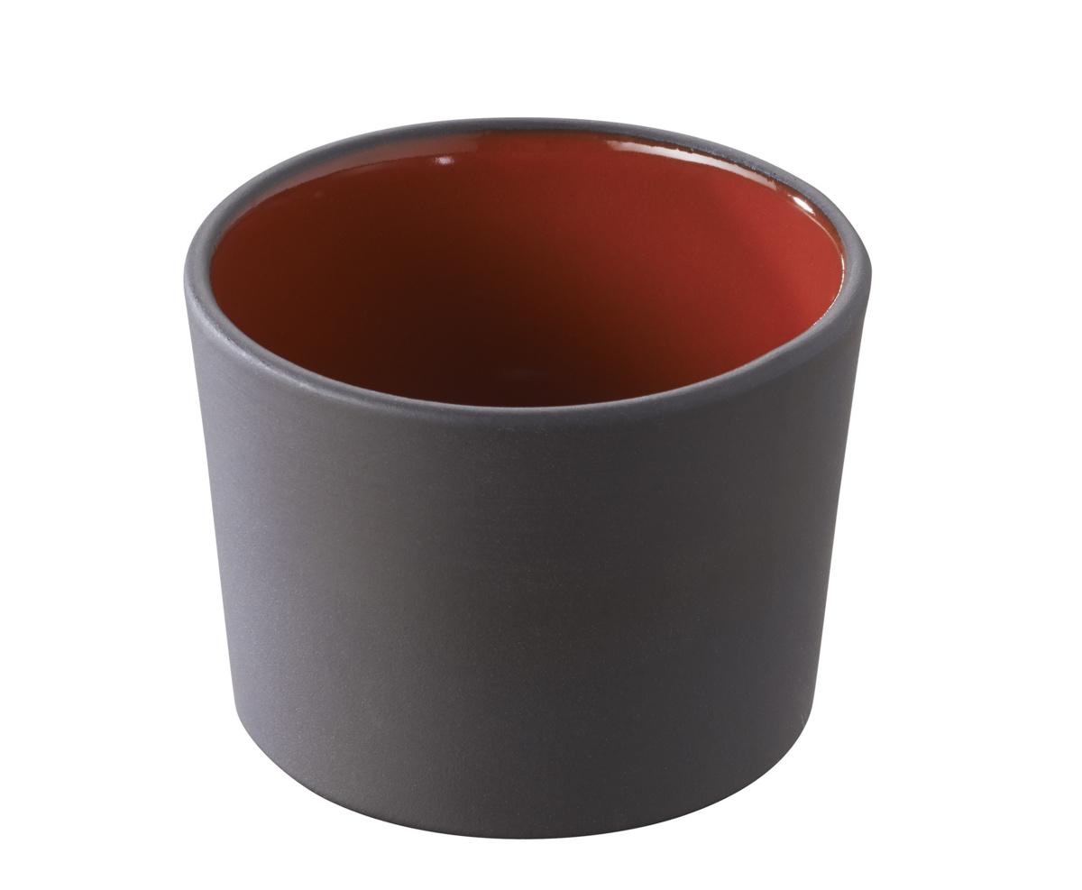 Pot à tapas rond rouge porcelaine 15 cl Ø 8 cm Solid Revol