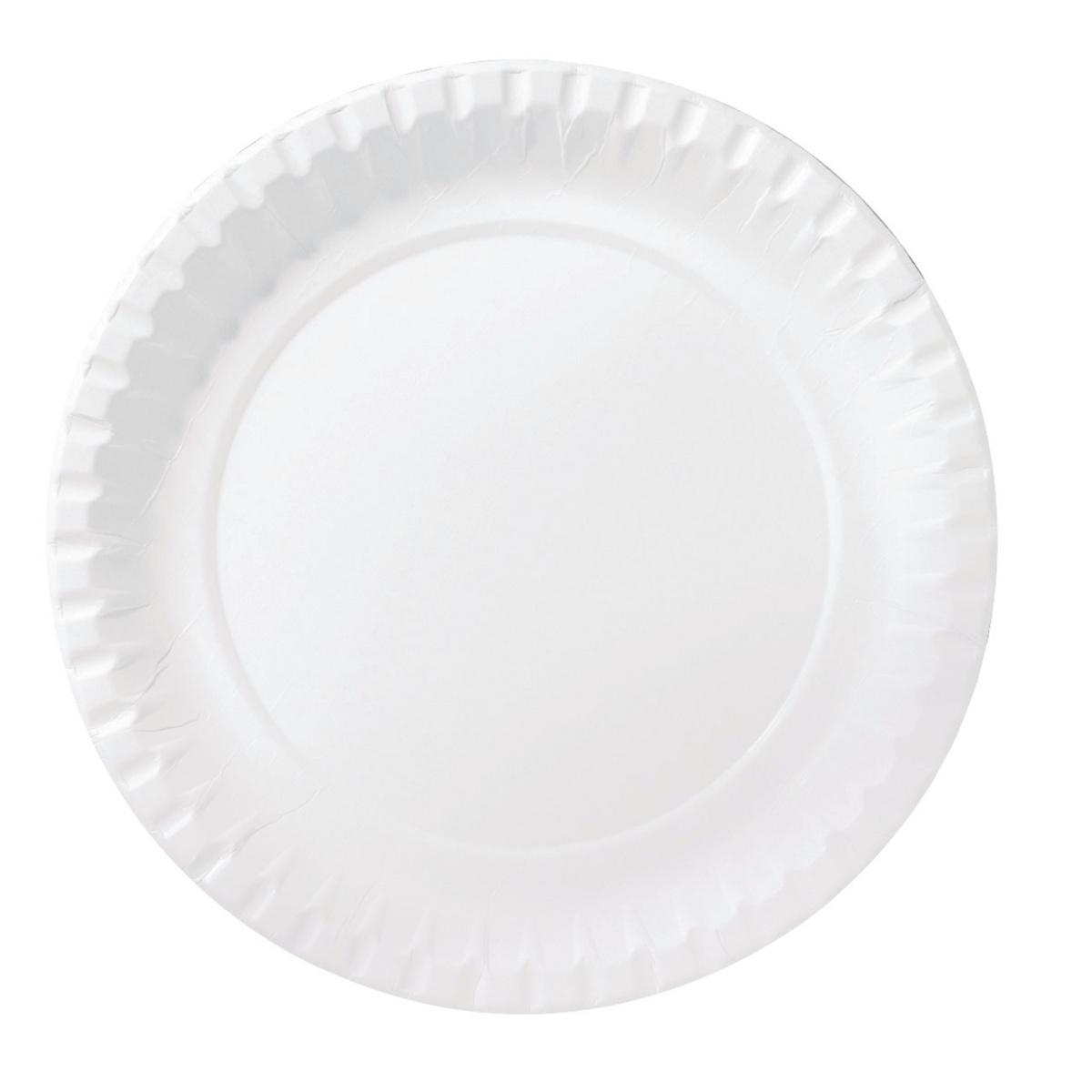 Assiette blanc Ø 18 cm (100 pièces)