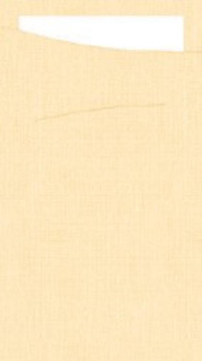 Pochette crème non tissé 11,50x23 cm Sacchetto Duni (60 pièces)