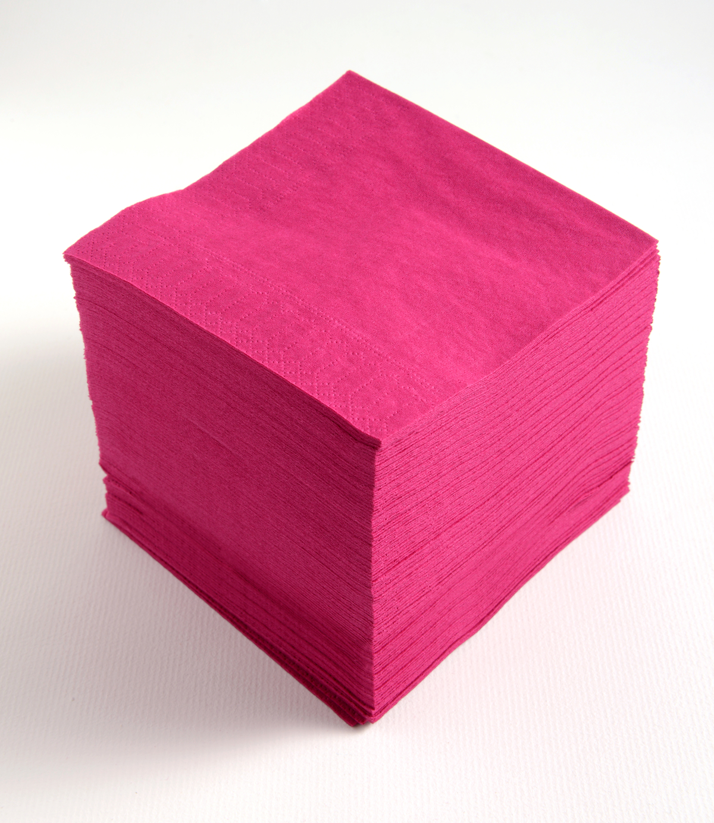 Serviette framboise ouate de cellulose 20x20 cm Celi Ouate Cgmp (100 pièces)