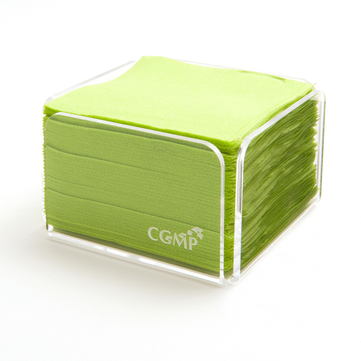 Serviette pistache ouate de cellulose 20x20 cm Celi Ouate Cgmp (100 pièces)
