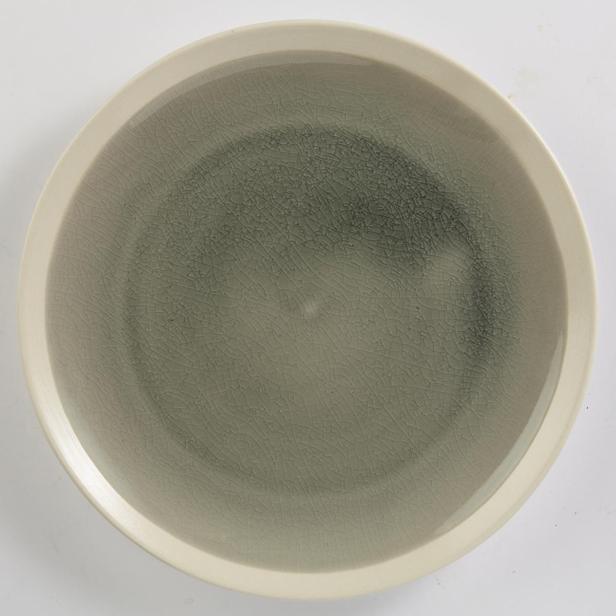 Assiette plate ronde gris grès Ø 22 cm Winter Pro.mundi