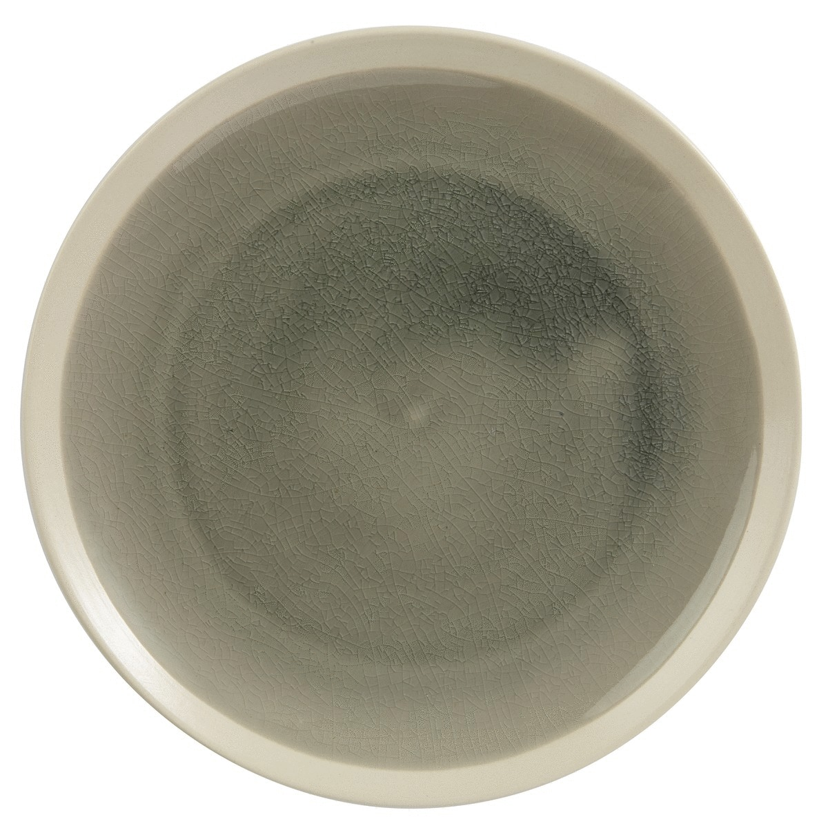 Assiette plate ronde gris grès Ø 25,50 cm Winter Pro.mundi