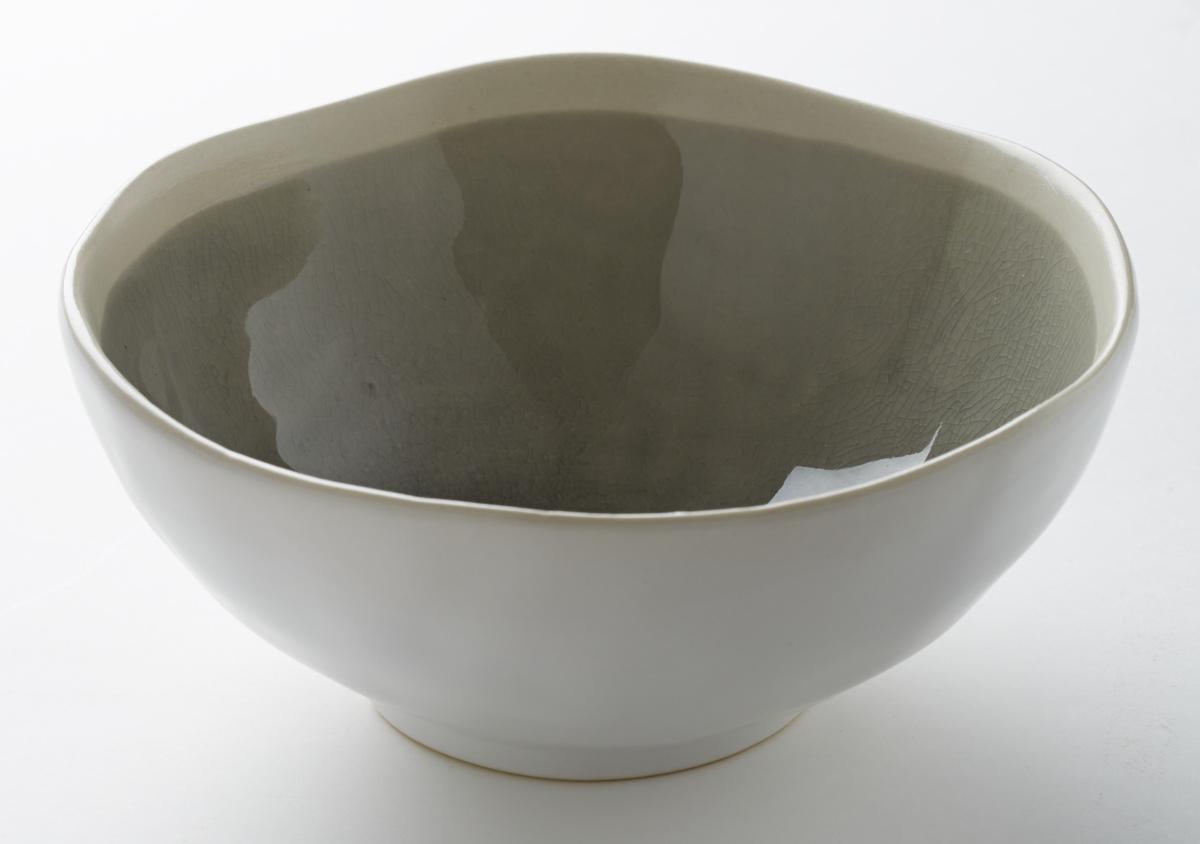 Saladier rond gris grès 75 cl Ø 17,50 cm Winter Pro.mundi