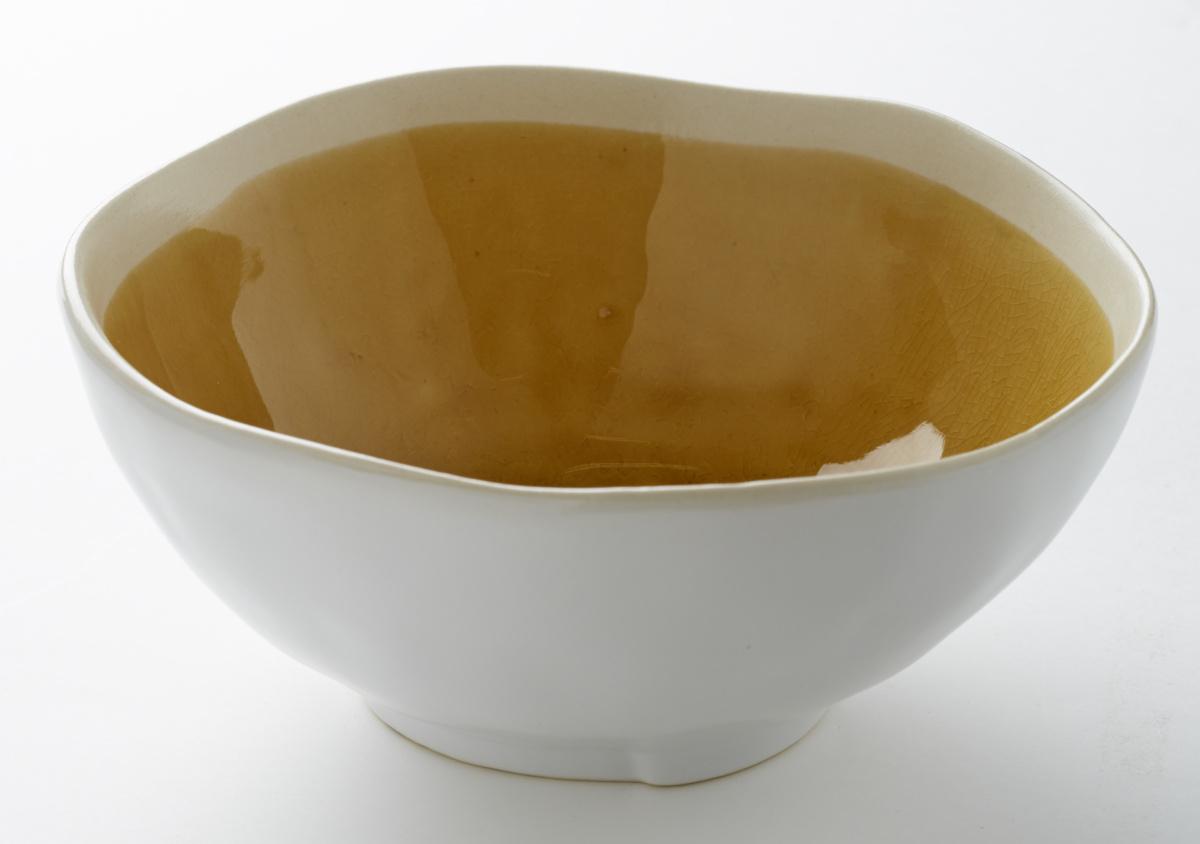 Saladier rond jaune grès 75 cl Ø 17,50 cm Winter Pro.mundi