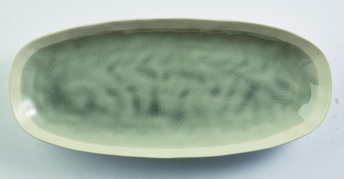 Plat ovale gris grès 30,50 cm Winter Pro.mundi